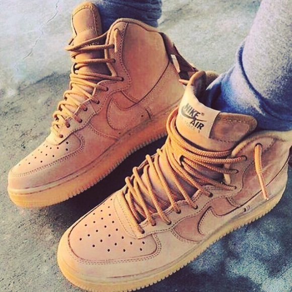 nike air force 1 tan suede